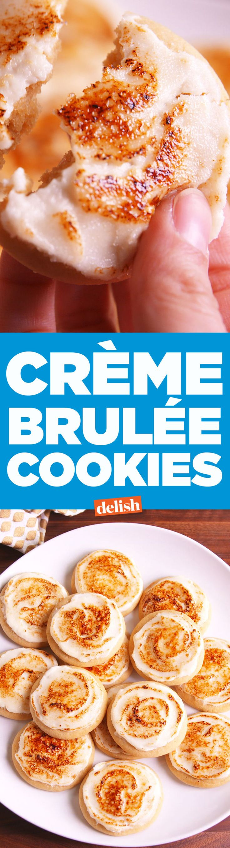 Your Cookie Swap Will Freak Over Crème Brûlée Sugar Cookies  - Delish.com