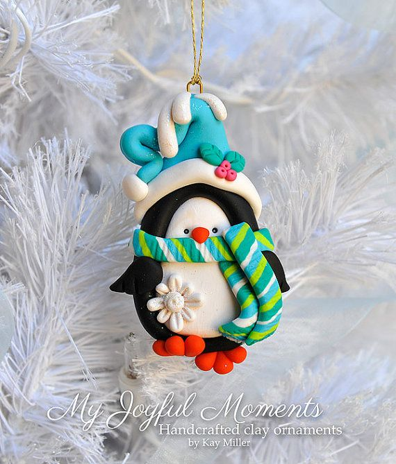 Polymer Clay Christmas Ornament by My Joyful Moments - Adorable