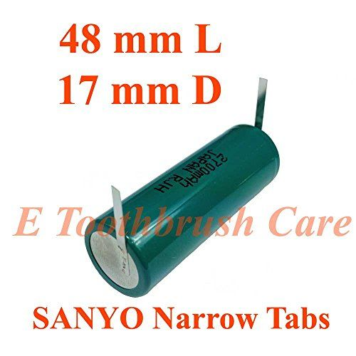 Replacement Battery Compatible with Braun Oral-b Triumph Professional Care Toothbrush, Sanyo Ni-MH 2700 mAh, 48 mm Long, 17 mm Diameter