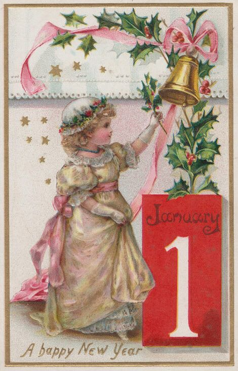 New Year's vintage card