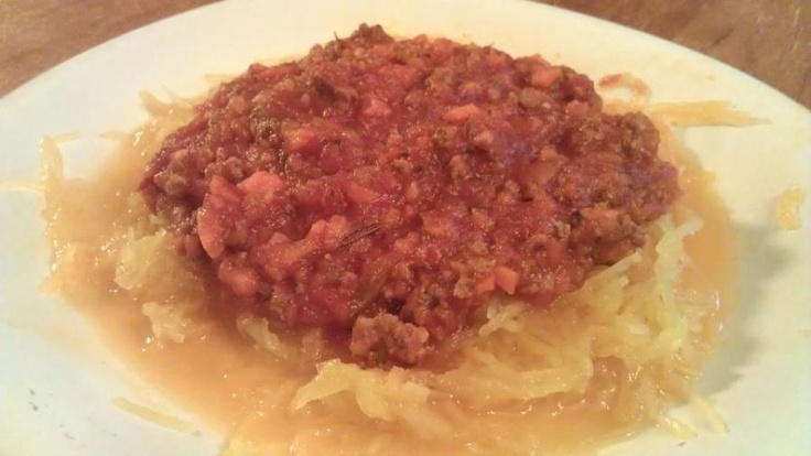 Whole 30 Spaghetti sauce.  This was so good!  I modified it with stuff I had, but I will definitely be making it again.