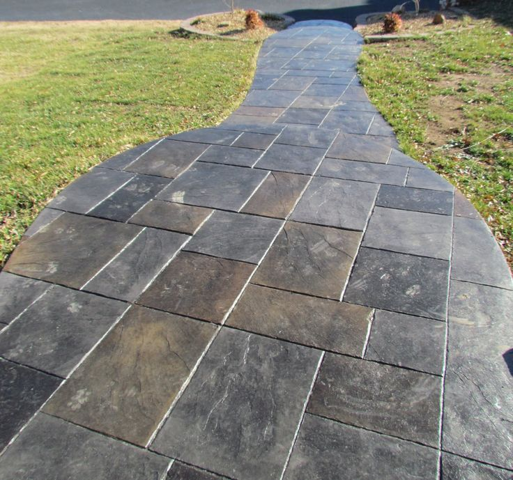 25 best ideas about stamped concrete patterns on - Stamped concrete walkway ideas ...
