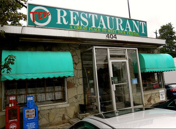 Amazing Ted's Diner, 404 Old Kingston Rd, Scarborough, Ontario.. The Amazing Ted's Diner isn't just '50s-styled, it has actually been around since 1954.
