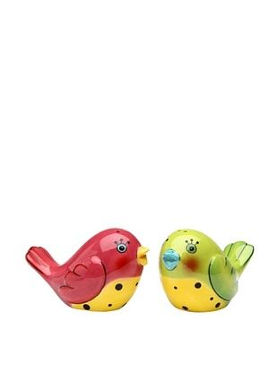 33% OFF Appletree Design Ceramic Pink & Green Love Birds Salt & Pepper Set