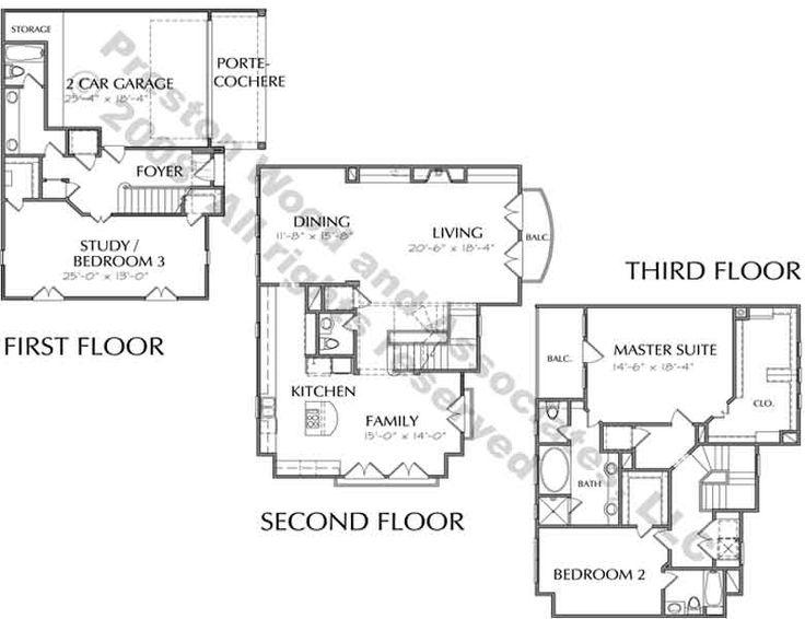 65 best townhouse duplex plans images on pinterest for Townhouse floor plan luxury