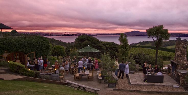 view of the sea at Mudbrick Vineyard & Restaurant