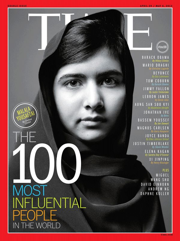 April 29, 2013: The 100 Most Influential People in the World: Malala Yousafzai