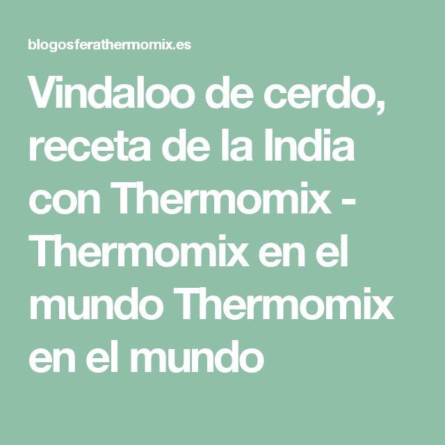 Vindaloo de cerdo, receta de la India con Thermomix - Thermomix en el mundo Thermomix en el mundo