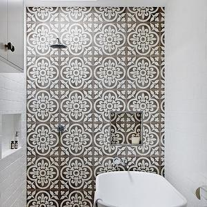 Quatrefoil Tile, Mediterranean, bathroom