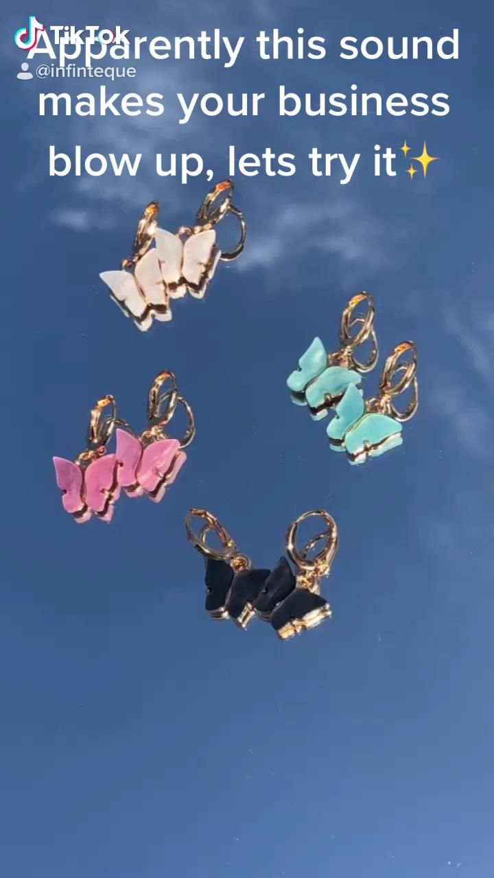 Blow Up Your Business With Tiktok Video Hoop Earrings Pink Butterfly