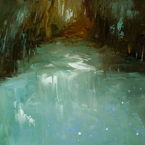 Abstract Pond Landscape 47 By Erica Kirkpatrick Art Abstracted Earth Pinterest
