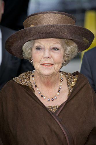 Princess Beatrix, Nov. 26, 2013 | The Royal Hats Blog Overlaid Sinamay in Edwardian style. #millinery #judithm #hats