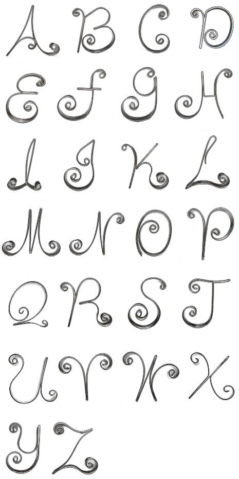 Monogram Script, trace these... let them dry... and BOOM you have a cake or cupcake design.