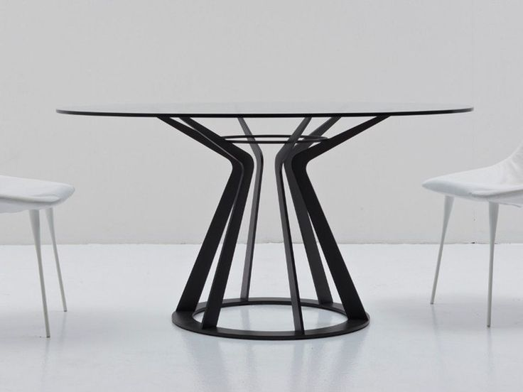 Round crystal table MITOS by Nube Italia | design Giuliano Cappelletti