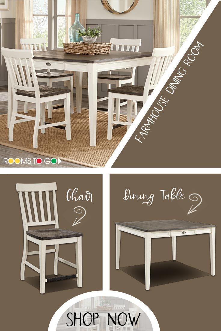Keston White Counter Height Dining Set
