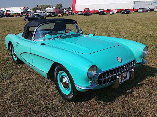 Cascade Green 1956 Corvette Wowed 'Em At Mid America Funfest 2017
