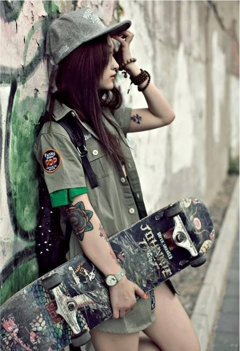 1000+ images about skater chick on Pinterest | Skateboard ...