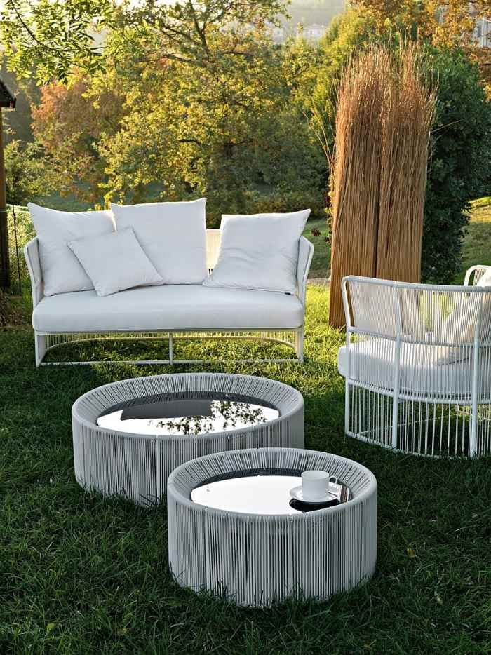 Salon de jardin design italien- la collection Tibidabo par Varaschin