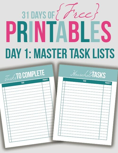 117 best Printables images on Pinterest - printable day planner