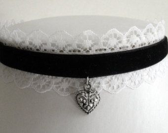 steampunk french maid | ... necklace collar lace velvet steampunk lolita victorian french maid