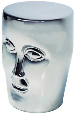 Modelo:  Silver face   Descripción:  Banca cromada con diseño de rostro  Código:  76682
