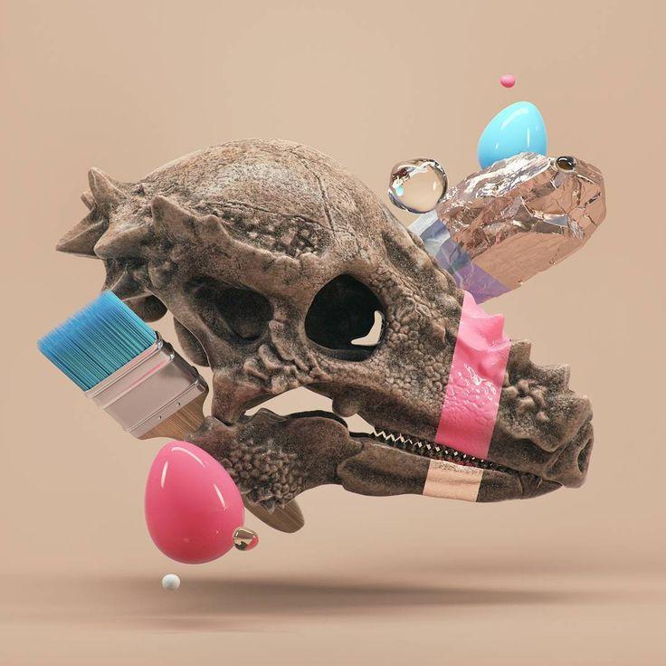 #pachycephalosaurus #cinema #4d #c4d #cinema4d #octane #render #octanerender #photoshop #daily #3d #gfx #graphics #graphic #design #abstract #art #surreal #archeology #minimal #skull #dinosaur #geometry #zbrush #brush #realistic #rock #rsa_graphics