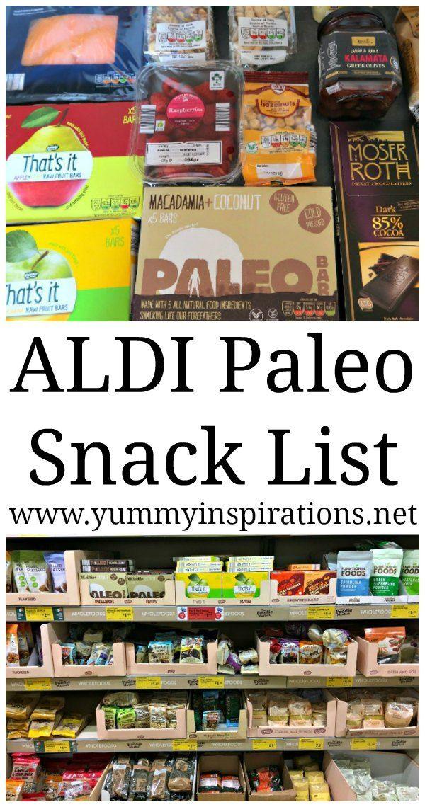 ALDI Paleo Snack List – Ideas for Paleo Snacks that you'll find at ALDI