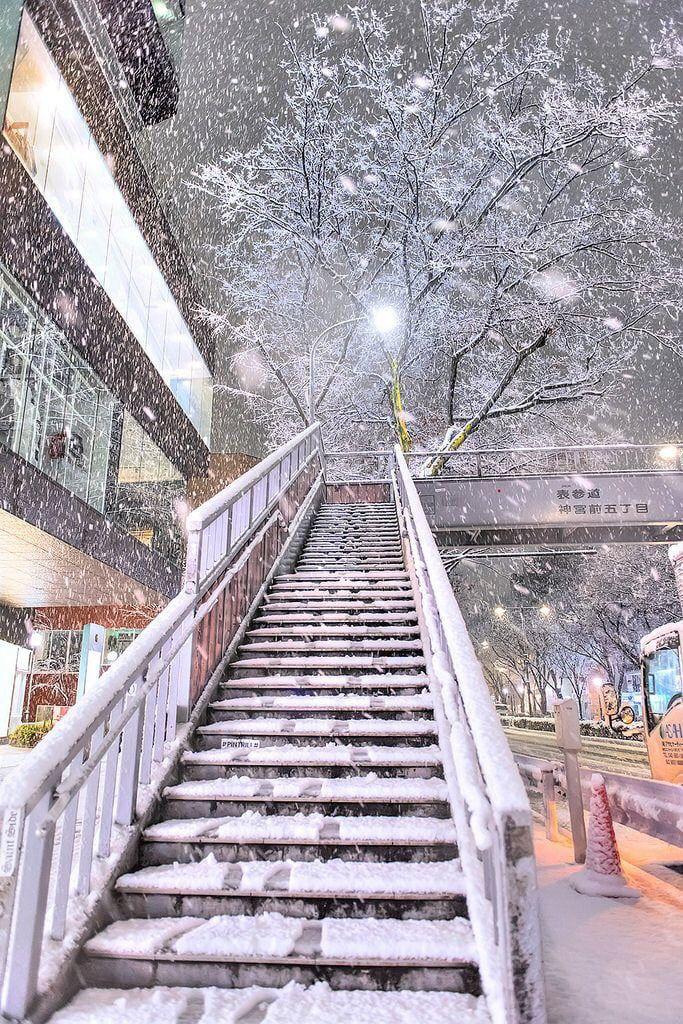Winter In Tokyo 123movie Anime Scenery Scenery Wallpaper Aesthetic Japan
