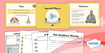 PlanIt - RE Year 4 - Buddhism Lesson 3: Special Places Lesson Pack - buddhist, Buddha, meditation, puja, Stupa