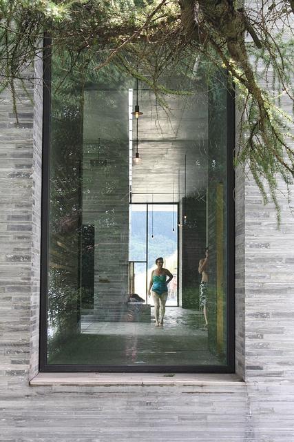 Therme vals graub nden switzerland peter zumthor for X window architecture