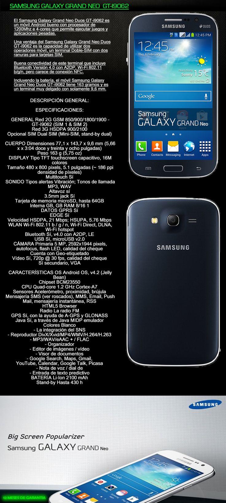 Nuevo Samsung Galaxy Grand Neo Duos Gt-i9060 Dual Sim 5 - $ 4.390,00 en MercadoLibre