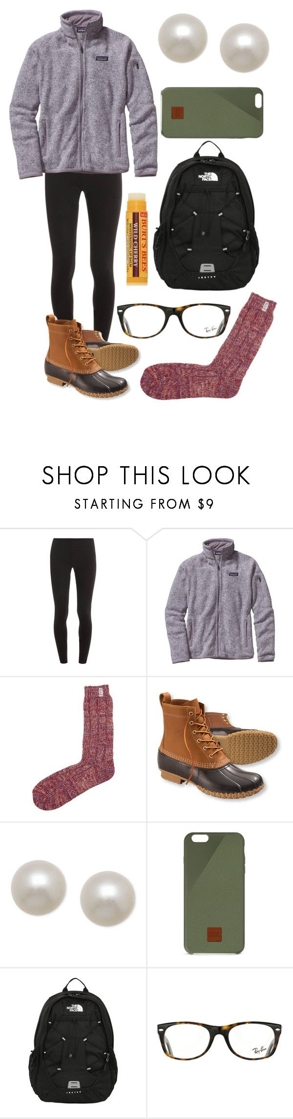 """CCD today"" by emmacaseyyyy ❤ liked on Polyvore featuring Splendid, Patagonia, Elle, L.L.Bean, Honora, Native Union, The North Face, Ray-Ban and Burt's Bees"