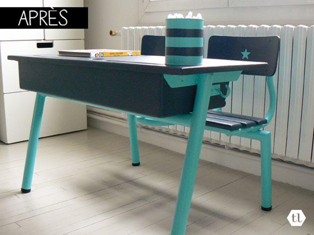 les 25 meilleures id es de la cat gorie bureau ecolier sur pinterest bureau d colier bureau. Black Bedroom Furniture Sets. Home Design Ideas