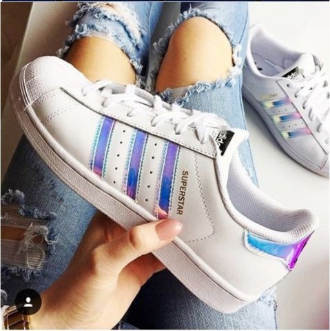 Adidas Superstar J White/White/Metallic Silver