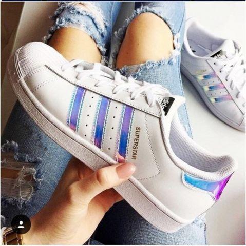 Adidas Superstar J White/White/Metallic Silver