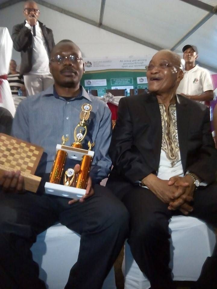 "Musatwe Simutowe‎. Won the Jacob Zuma Open Chess Tournament 2014 (Defended the title won in 2013) The Jacob Zuma Open Chess Tournament took place in Nkandla, on Friday 19 December 2014. Nkandla is the first rural area in South Africa, to host such an event.The event organizer, Sandile Xulu of the JG Zuma Foundation, stated that the event was an ""amazing"" success and had drawn the largest number of participants since its inception in 2009."