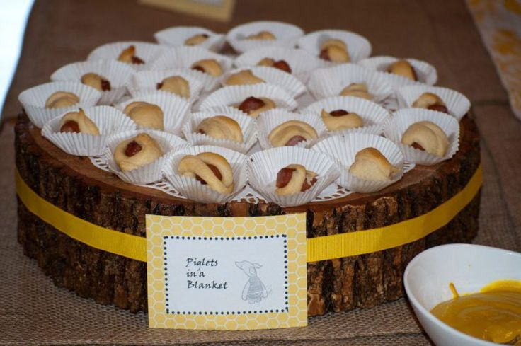 piglets in a blanket - winnie the pooh baby shower