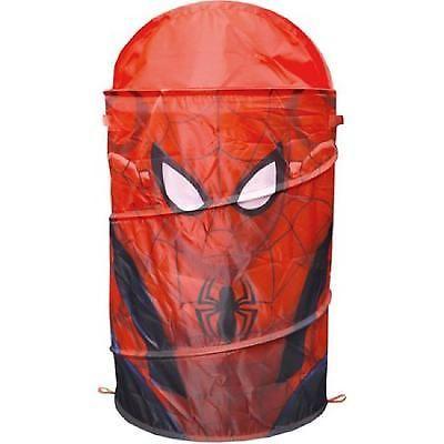 Kids Pop Up Hamper Dome Laundry Basket Spider Man Washing Bin Clothes Organizer
