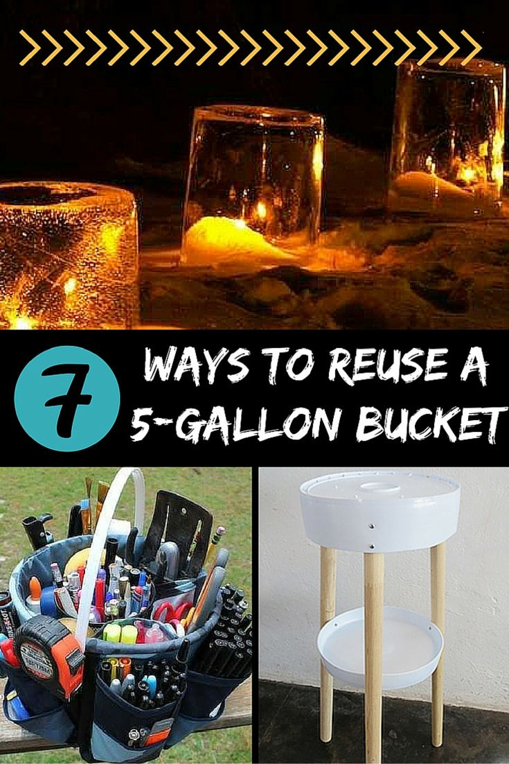 7 creative diy ways to reuse a 5 gallon bucket reuse for Creative ways to recycle