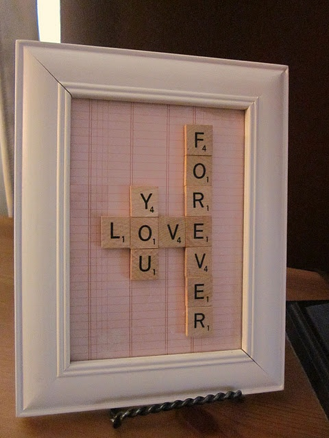 Scrabble Love - tweak this for Mother's Day or Father's Day