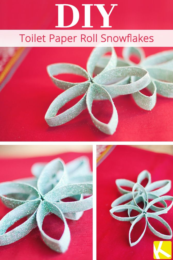 These are so easy to make. All you need is bathroom tissue roll, glitter and paint! The glitter really makes these look elegant!