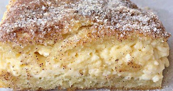 Smetanovo skořicový dezert, který je vláčný i křupavý