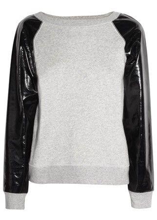 Karl PCV sleeved sweater, £115