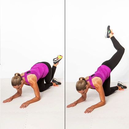 Rear Attitude In-Out: target your booty, inner thighs, and abs with this multi-tasking move.