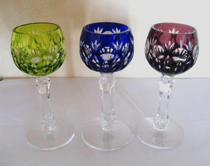 3 verres cristal du rhin roemer saint louis, baccarat bon état voir photo fr.picclick.com