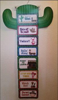 Adorable Western cowboy themed behavior clip chart!!!