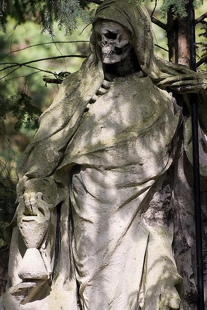 The Grim Reaper sculpture by August Schmiemann (sculptor ...