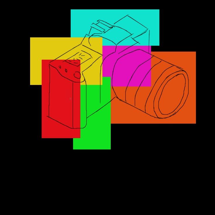 Uno de los trabajos realizados para la asignatura de Dibujo Artístico, con la aplicacion Devianart. Dibujo de la cámara hecho con el mouse de ratón. Propiedad de Manuel Pérez