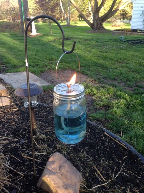 Mason jar tiki torch