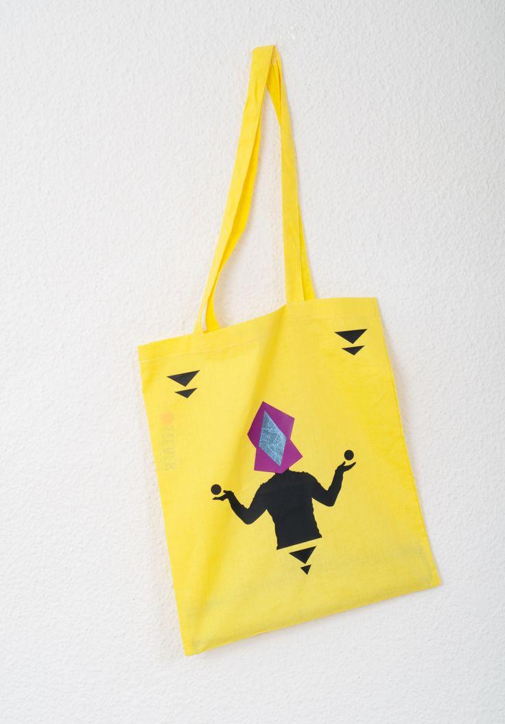 Yellow Tote Bag Design : MYSTER\O